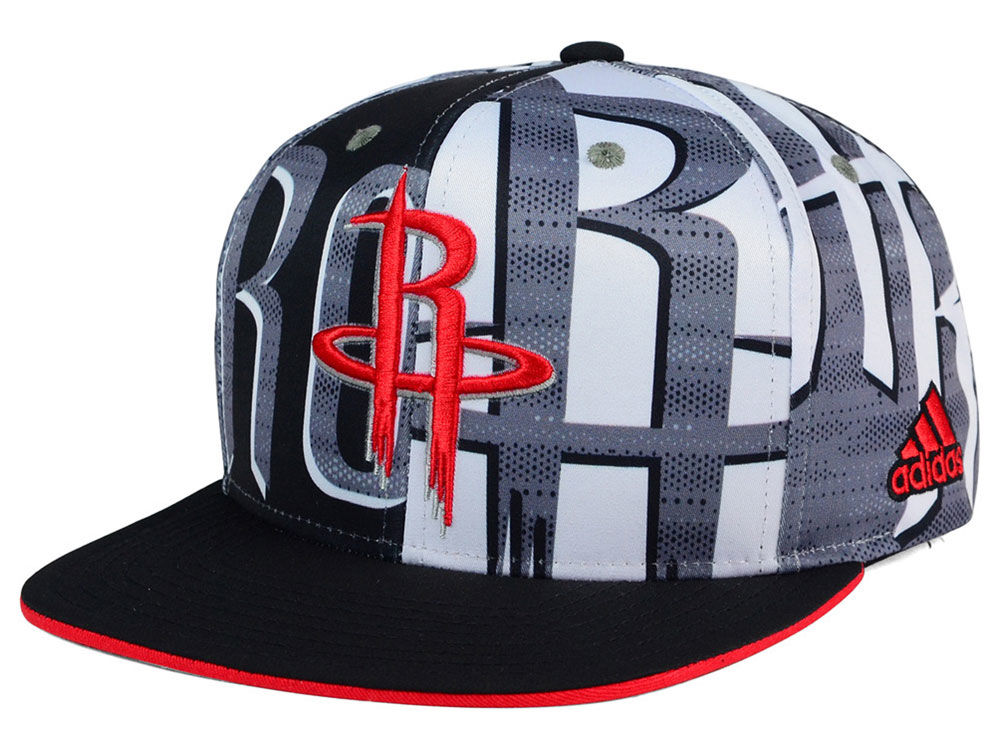 premium selection 214bb f32b8 best Houston Rockets adidas NBA 2016 All Team Screen Print Snapback Cap