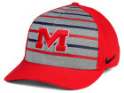 Ole Miss Rebels Nike NCAA Classic Verbiage Swoosh Cap Stretch Fitted Hats