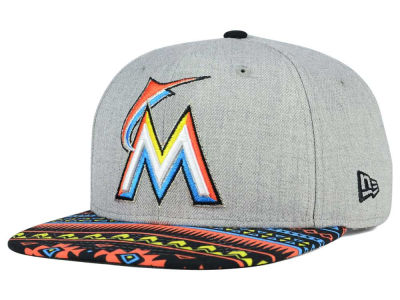 Miami Marlins MLB Neon Mashup 9FIFTY Snapback Cap Hats