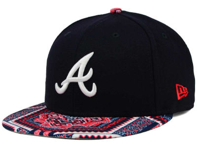 Atlanta Braves MLB Kaleidovize 9FIFTY Snapback Cap Hats