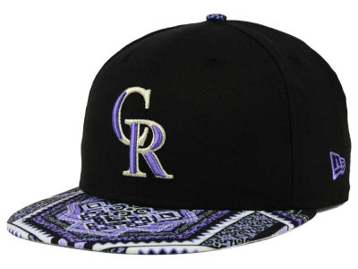 Colorado Rockies MLB Kaleidovize 9FIFTY Snapback Cap Hats