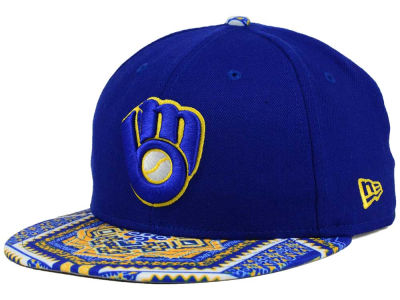 Milwaukee Brewers MLB Kaleidovize 9FIFTY Snapback Cap Hats