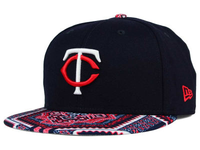 Minnesota Twins MLB Kaleidovize 9FIFTY Snapback Cap Hats