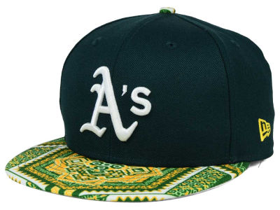 Oakland Athletics MLB Kaleidovize 9FIFTY Snapback Cap Hats