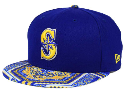 Seattle Mariners MLB Kaleidovize 9FIFTY Snapback Cap Hats