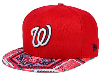 Washington Nationals MLB Kaleidovize 9FIFTY Snapback Cap Hats