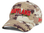Maryland Terrapins Under Armour NCAA Camo Stretch Cap Stretch Fitted Hats