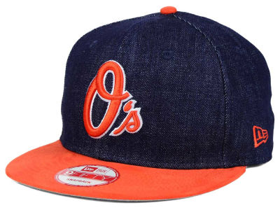 Baltimore Orioles MLB 2 Tone Denim Suede 9FIFTY Snapback Cap Hats