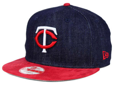 Minnesota Twins MLB 2 Tone Denim Suede 9FIFTY Snapback Cap Hats