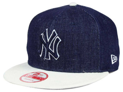 New York Yankees MLB 2 Tone Denim Suede 9FIFTY Snapback Cap Hats