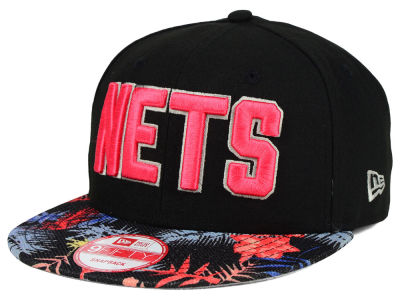 New Jersey Nets NBA HWC Fall Floral 9FIFTY Snapback Cap Hats
