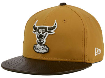 Chicago Bulls NBA HWC Suedebuck 9FIFTY Snapback Cap Hats