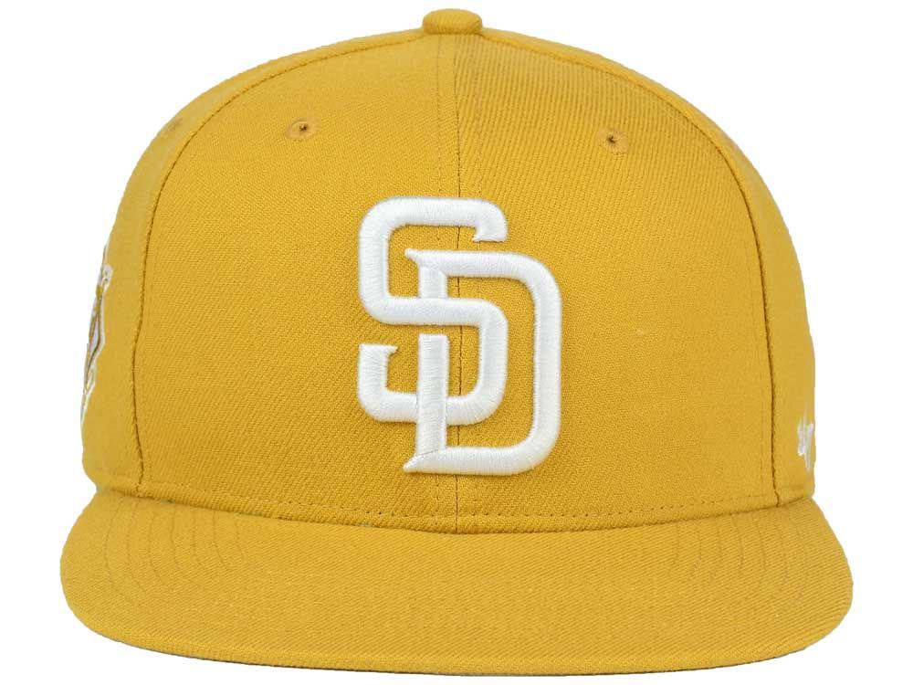 best sneakers 3d156 020de 30%OFF San Diego Padres  47 MLB  47 Wheat Sure Shot Snapback Cap