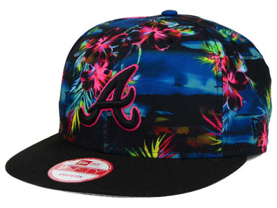 Atlanta Braves MLB Dark Tropic 9FIFTY Snapback Cap Hats