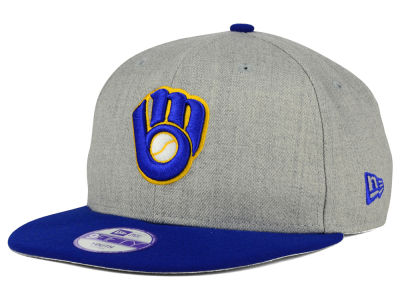 Milwaukee Brewers MLB Youth Lil Heather Team Color 9FIFTY Snapback Cap Hats