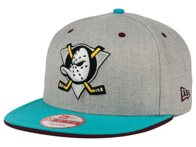 Anaheim Ducks NHL Heather Team Color 9FIFTY Snapback Cap Hats