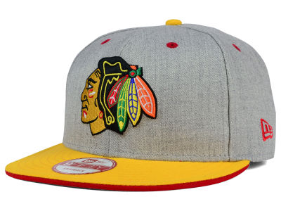 Chicago Blackhawks NHL Heather Team Color 9FIFTY Snapback Cap Hats