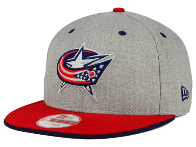 Columbus Blue Jackets NHL Heather Team Color 9FIFTY Snapback Cap Hats