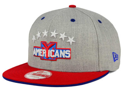 New York Americans NHL Heather Team Color 9FIFTY Snapback Cap Hats
