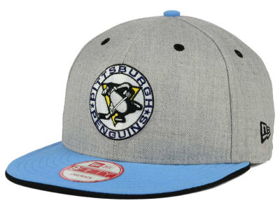 Pittsburgh Penguins NHL Heather Team Color 9FIFTY Snapback Cap Hats