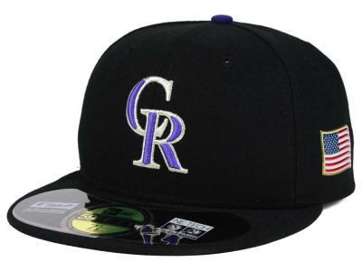 Colorado Rockies MLB AC 9-11 Patch 59FIFTY Cap Hats