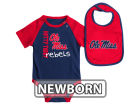 Ole Miss Rebels Colosseum NCAA Newborn Rookie Onesie & Bib Set Infant Apparel