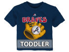 Atlanta Braves Majestic MLB Toddler Baseball Mitt T-Shirt T-Shirts