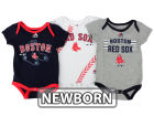 Boston Red Sox Majestic MLB Newborn Three Strikes Bodysuit Set Infant Apparel