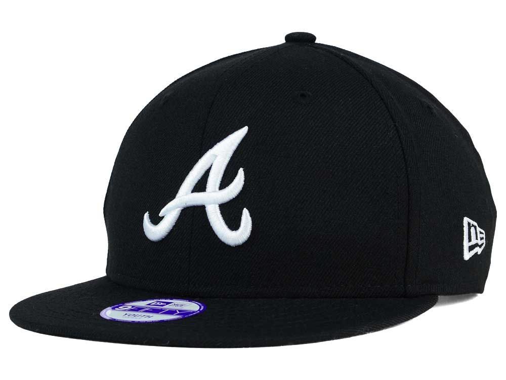 1acbe1d46b3 Atlanta Braves New Era MLB Youth B-Dub 9FIFTY Snapback Cap well-wreapped