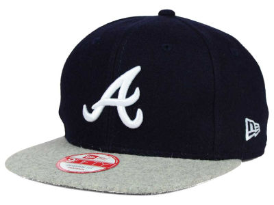 Atlanta Braves MLB Team Melton 9FIFTY Snapback Cap Hats