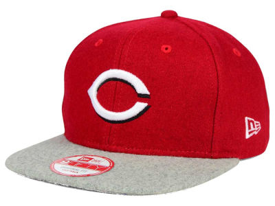 Cincinnati Reds MLB Team Melton 9FIFTY Snapback Cap Hats