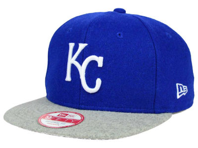 Kansas City Royals MLB Team Melton 9FIFTY Snapback Cap Hats
