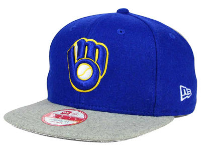 Milwaukee Brewers MLB Team Melton 9FIFTY Snapback Cap Hats