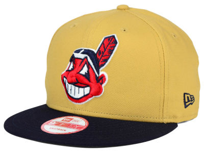 Cleveland Indians MLB Classic Canvas 9FIFTY Snapback Cap Hats