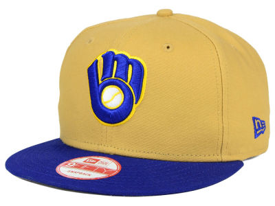 Milwaukee Brewers MLB Classic Canvas 9FIFTY Snapback Cap Hats
