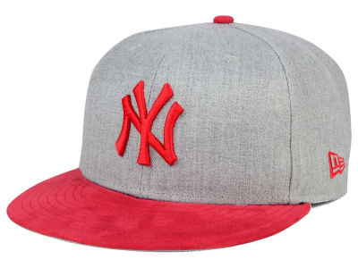 New York Yankees MLB Heather On Suede 9FIFTY Snapback Cap Hats