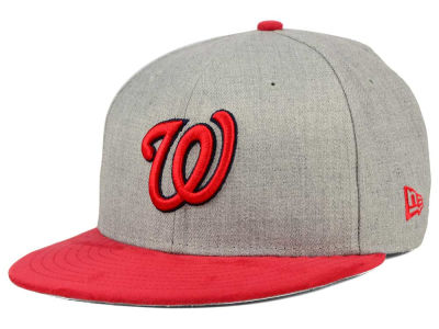 Washington Nationals MLB Heather On Suede 9FIFTY Snapback Cap Hats