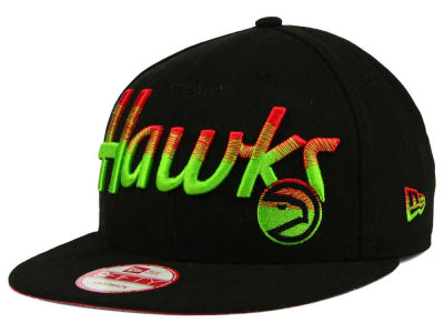 Atlanta Hawks NBA HWC Fade to Script 9FIFTY Snapback Cap Hats