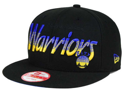 Golden State Warriors NBA HWC Fade to Script 9FIFTY Snapback Cap Hats