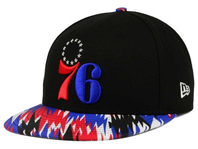 Philadelphia 76ers NBA HWC Team Zag 9FIFTY Snapback Cap Hats