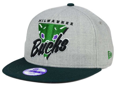 Milwaukee Bucks NBA HWC Youth Lil Triangle Offense 9FIFTY Snapback Cap Hats