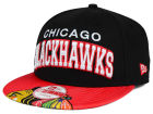 Chicago Blackhawks New Era NHL Double Flip 9FIFTY Snapback Cap Adjustable Hats
