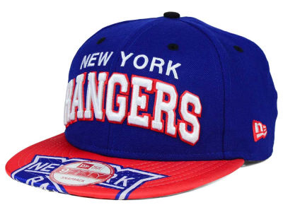 New York Rangers NHL Double Flip 9FIFTY Snapback Cap Hats