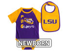 LSU Tigers Colosseum NCAA Newborn Rookie Onesie & Bib Set Infant Apparel