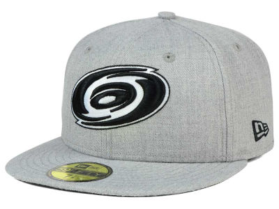 Carolina Hurricanes NHL Heather Gray Black White 59FIFTY Cap Hats