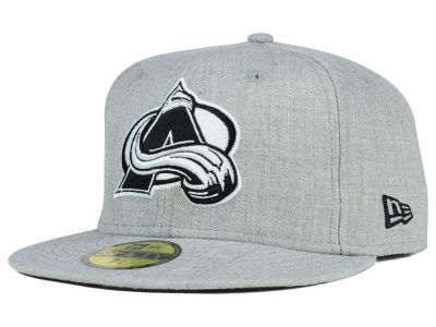Colorado Avalanche NHL Heather Gray Black White 59FIFTY Cap Hats