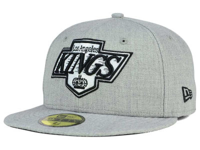 Los Angeles Kings NHL Heather Gray Black White 59FIFTY Cap Hats
