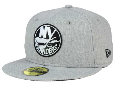 New York Islanders NHL Heather Gray Black White 59FIFTY Cap Hats