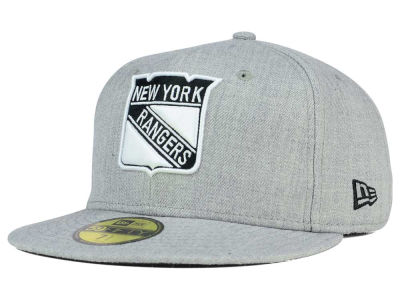 New York Rangers NHL Heather Gray Black White 59FIFTY Cap Hats
