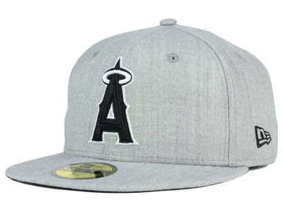 Los Angeles Angels MLB Heather Black White 59FIFTY Cap Hats